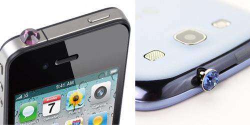 Αξεσουάρ Διακόσμησης Διαμάντι Κίτρινο για iPhone 4/ 4S – Galaxy