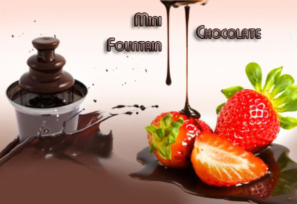 ������� ���������� ��� Fondue ��������� - Mini Fondue Chocolate Fountain