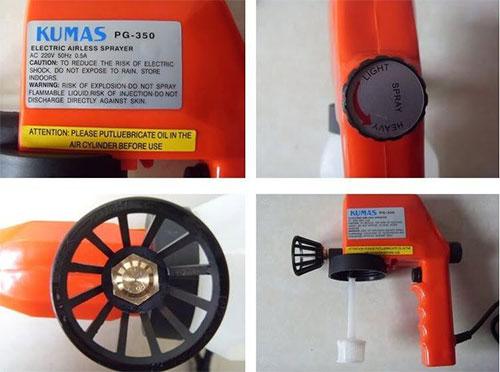 Ηλεκτρικό Πιστόλι Βαφής Βάψιμο Εύκολα Και Γρήγορα Kumas PG-350