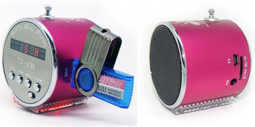 Mini MP3 Player - Fm Radio Aluminum Speaker 3w με Φωτισμό Led
