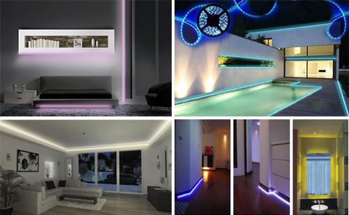 Σετ Αδιάβροχη Ταινία LED 5 μέτρων RGB 54SMD SuperBright 12V με τηλεχειριστήριο