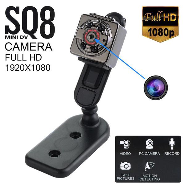 4f6b277e34 ΜΙΝΙ ΚΑΜΕΡΕΣ - SPY GADGET- Super Mini DV Full HD 1080p Κάμερα Καταγραφικό  12MP Με Ανίχνευση Κίνησης SQ8 SpyCam - www.safe-shop.gr